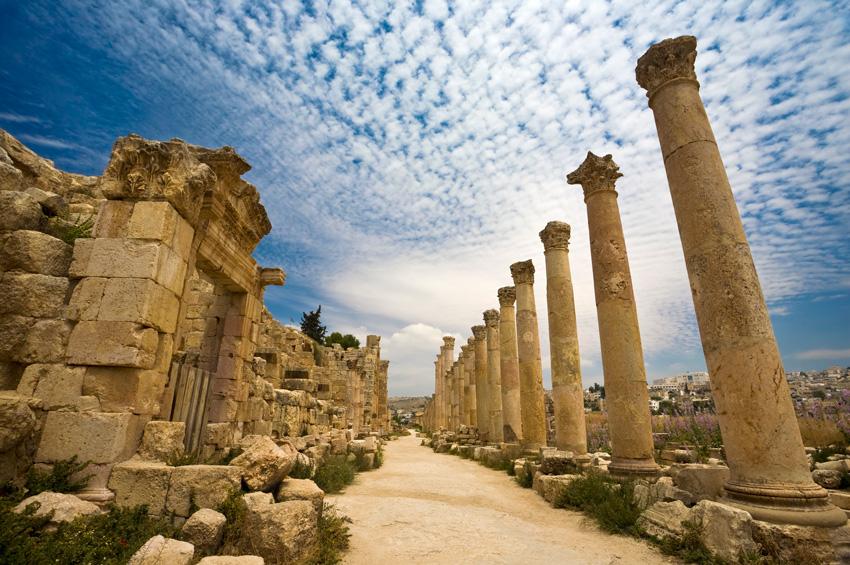 Jerash en Jordanie