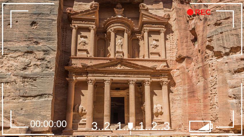 Le Khazneh à Petra en Jordanie