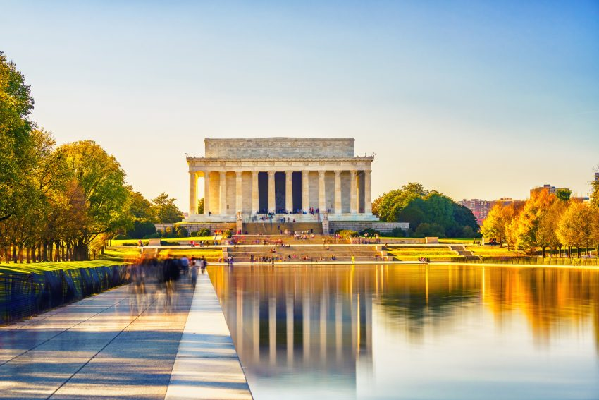 Le Lincoln Memorial sur le National Mall