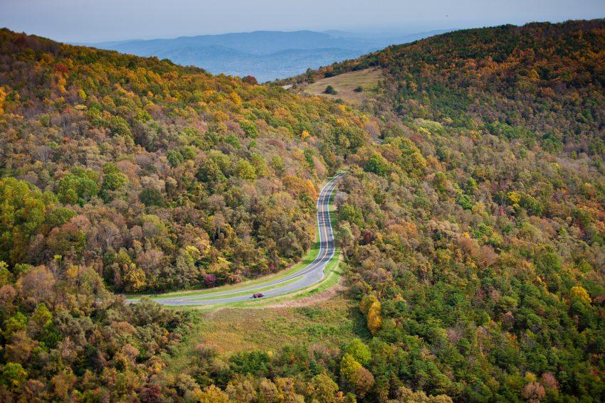 Skyline Drive à l'automne