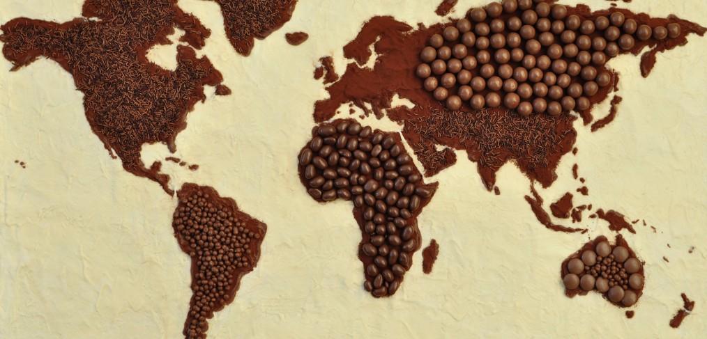 planisphère en chocolat