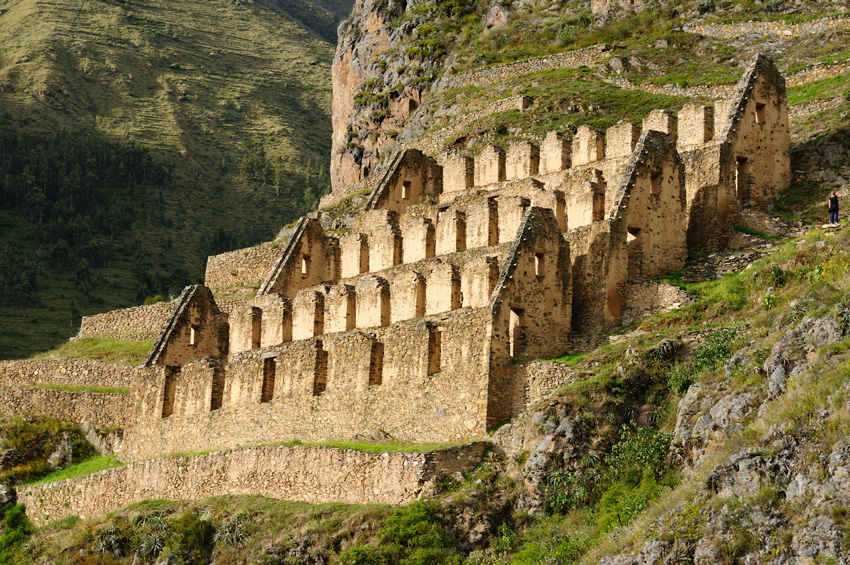 Ancienne forteresse d'Ollantaytambo au Pérou