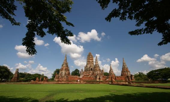 Temples d'Ayutthaya en Thailande