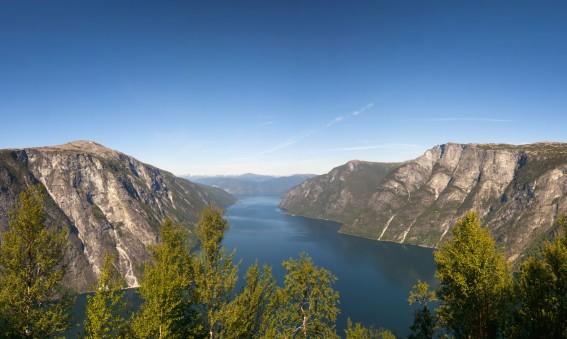 Aurlandsfjord et Naeroyfjord en Norvège