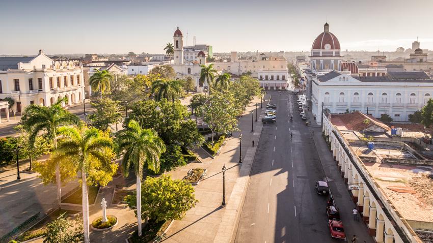 Parc Jose Marti, mairie et cathédrale, Cienfuegos